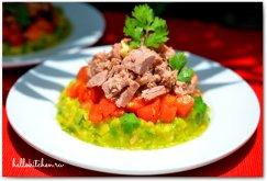 Салат из дыни с тунцом