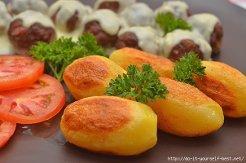 Картофель с белыми грибами